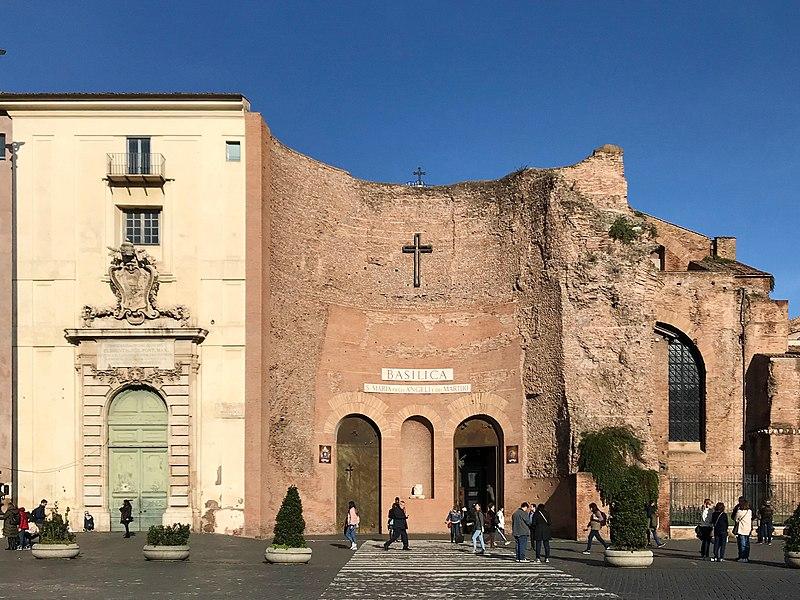 la basilica di santa Maria degli angeli a Roma