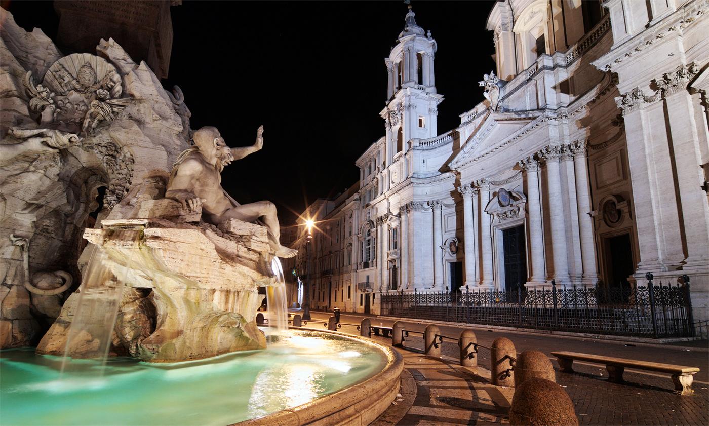Visita serale dedicata alle più belle fontane di Roma