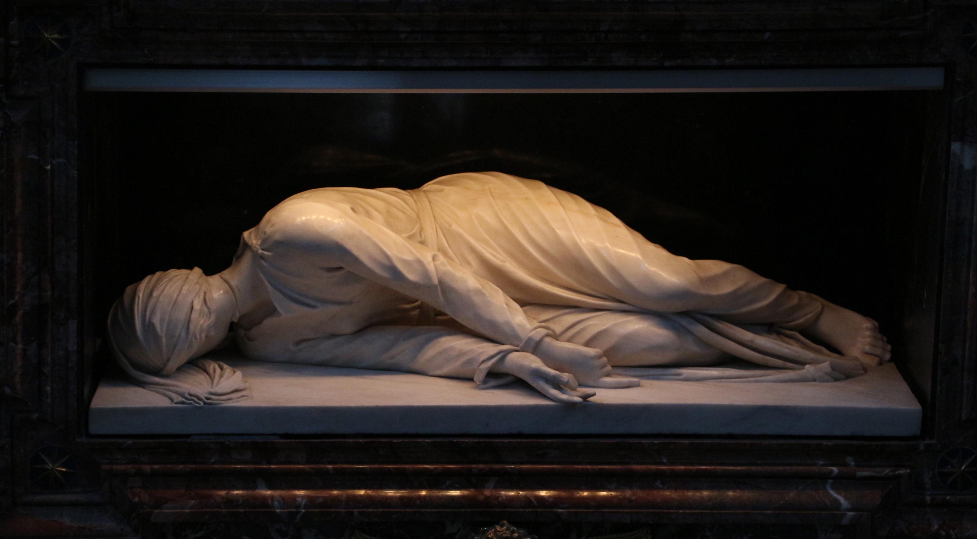 statua di santa Cecilia di Stefano Maderno
